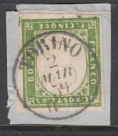 Sardegna, 5 Cent  Torino , Tinta Del 1858-59, Minimo Cv 475 - Sardaigne