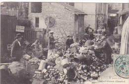 23027 Saint Ouen Illustre -chez Nos Chiffonniers Triage -ed Sudan StO - Pub Chasseurs Parisiens -cpa 1906