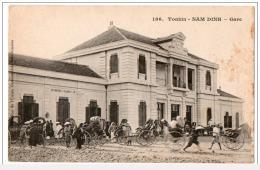 Indochine Indochina Vietnam Viet Nam Vintage Postcard : Nam Dinh Gare / Train Station - Vietnam