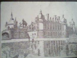 Gravure En Noir Et Blanc,château De Chambord , 2001 - Oude Documenten