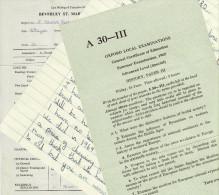 1960´s School Child Ephemera 1969 Essay 1965 A Level History Paper 1968 Report Replicas - Diploma & School Reports