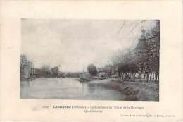 33 - Libourne - Le Confluent De L'Isle Et De La Dordogne, Quai Souchet (tampon Hopital Temporaire N°1 Libourne) - Libourne