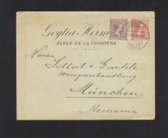 Carta Jerez Cadiz 1898 - 1889-1931 Königreich: Alphonse XIII.