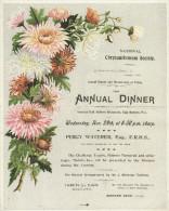 Victorian Flier National Chrysanthemum Society Annual Dinner 1899 Garden Flower Replica - Programs
