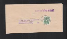 Österreich Streifband 1936 Nach Deutschland - 1918-1945 1. Republik