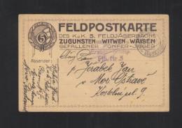 KuK Feldpostkarte 5. Feldjägerbaon 1917 - Briefe U. Dokumente