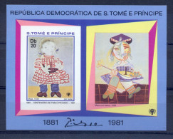 SAO TOME AND PRINCIPE 1981  Pablo Picasso  (imperforated) - Picasso