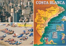 España--Alicante--2004--Benidorm- Varias Vistas Y Plano--Franqueo -ADMIS MASIVA-Alicante - Mapas
