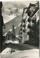 CPSM 74 CHAMONIX L HOTEL DE VILLE L EGLISE ET LA CHAINE DU BREVENT EN HIVER  Grand Format 15 X 10,5 - Chamonix-Mont-Blanc