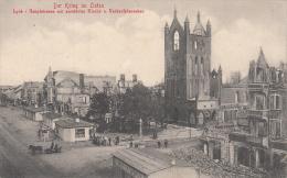 LYCK Hauptstrassemit Zerstörter Kirche U.Verkaufsbaracken - Pologne