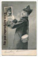 - 3782 - Enfant - Garçon En Militaire, Uniforme, Précurseur, Mignon, CPA Italienne, écrite, 1903, TBE, Scans. - Cartes Humoristiques