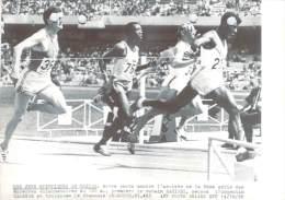 J.O. Mexico 1968 - L'arrivée De La 9ème Série Des épreuves éliminatoires Du 100m , Photo AFP - Jeux Olympiques
