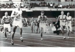 J.O. Mexico 1968 - L'arrivée Du 400m Haies David Hemery (G-B) , Photo AFP - Olympics