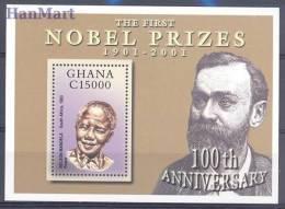 Ghana 2002 Mi Bl426 Mnh - Politician, Peace, N. Mandela - Nobel Prize Laureates