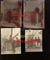 "Paquebot Compagnie Transatlantique EUGENE PEREIRE - "" Lot 4 photos de 1905-1907 """