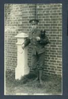 G3446 Real Photo Postcard Army Officer W/ Pomeranian - Non Classés