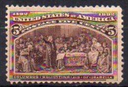 Etats-Unis N° 85 Neuf * - Charnière Papier - Cote 85€ - 1847-99 General Issues