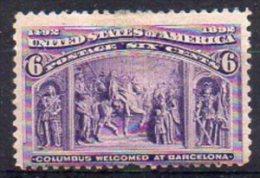 Etats-Unis N° 86 Neuf * - 1 Dent Absente - Cote 85€ - Unused Stamps