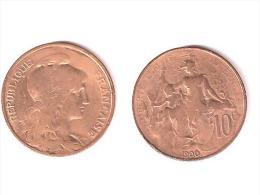 DUPUIS  //  10 Centimes 1900  //  état TB - D. 10 Centimes