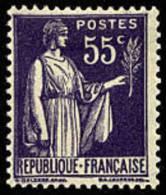 France Type Paix - N°  363 * 3ème Série Le 55c Violet - 1932-39 Paix