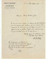 TOILES ET LINGERIES   OUDOT   à PARIS  1882 - Textile & Vestimentaire