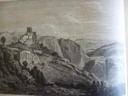 Les Gorges D'Ollioules , Dans Les Environs De Toulon , Gravure De 1877 D'aprés Courdouan - Historische Dokumente