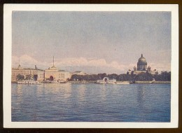 Stationery Mint 1958 Card USSR RUSSIA Architecture Leningrad Cathedral Admiralty River Overprint - 1923-1991 USSR