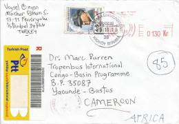 Turkey 2010 Istanbul Marmara University Ataturk Barcoded AR Registered Cover - Brieven En Documenten