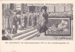 """Rheinische Briefmarkenausstellung Düsseldorf 1936, """"Die Schirmherrin Trifft....ein"""" - Stamps (pictures)"""