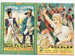 857F) 02 - BRASLES - 2e 1989 ET 6 E  1994 BOURSE AVEC SIGNATURE DE BLEM - France