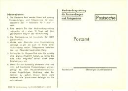 DDR DP-Ganzsachenpostkarte 1983 Postsache Nachsendunsantrag Für Postsendungen Und Telegramme - [6] République Démocratique