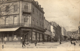 42 Roanne. Rue Nationale Et Societé Generale - Roanne