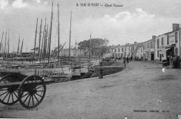 CPA  -   ILE  D' YEU   (85)   Quai  Carnot    (  Boucherie Sur Le Quai ) - Ile D'Yeu
