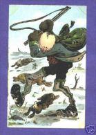 P1589     Huber Postcard, Hunter With Rabbits - Non Classés