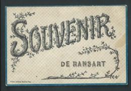 Souvenir De Ransart. Carte à Paillettes. Voyagée En 1907. - Charleroi