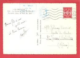 N°Y&TFM 12 PLOGOFF (Service à La Mer ,au Retour De La Pointe Du Raz)   Vers   ST JEAN/CHA Le  06 DECEMBRE 1915 (2 SCANS) - Poste Navale