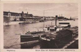 MAGDEBURG  STROM ELBE MIT ABFAHRSSTELLE NACH HOHENWARTHE - Magdeburg