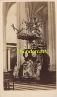 ANCIENNE PHOTO CDV CARTE DE VISITE ** VINTAGE PHOTO ** OUDE FOTO **  GAND GENT CHAIRE DE LA CATHEDRALE - Anciennes (Av. 1900)