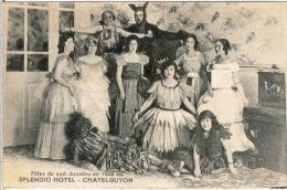 63 Puy De Dôme CHATELGUYON CHATEL GUYON Fêtes De Nuit Données En 1922 Au Spendid Hotel Costumes Carte Neuve - Châtel-Guyon