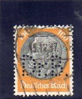 REICH 1932-3 O FILIGRANE B PERFIN - Gebraucht