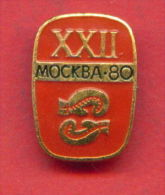 F26 / SPORT - Boxing - Boxen - Boxe - Pugilato - Boxeo - 1980 Summer XXII Olympics Games Moscow RUSSIA Badge Pin - Boxing