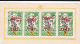 BELGIQUE - 1943 - OCCUPATION ALLEMANDE - Bloc Mi N° VI (*) DEFECTUEUX -  COTE = 320 EUROS