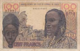 BILLET DE 100 FRANCS DE L AFRIQUE DE L OUEST. Série :L.278 - Otros – Africa