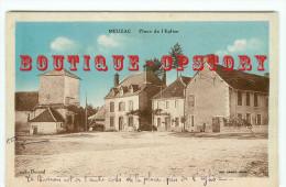 87 - MEUZAC < VISUEL RARE < Place De L'église - Dos Scanné - France