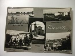 BRESCIELLO MULTIVEDUTE  PONTE SUL PO NUOVE COSTRUZIONI  GIARDINI PIAZZA  PANORAMA  CHIESA - Reggio Nell'Emilia