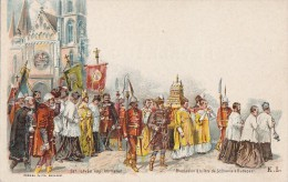 Hongrie - Budapest - Précurseur - Procession Religieuse Saint-Etienne - Bannières - Entier Postal - Hungary