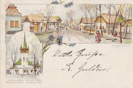 Hongrie - Budapest - Précurseur - Rue Hongroise - Entier Postal Cachet 1897 Budapest Wien Modling - Hungary