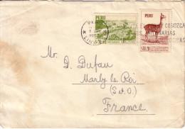 PEROU - LETTRE DE LIMA POUR LA FRANCE DU 9-6-1957. - Pérou