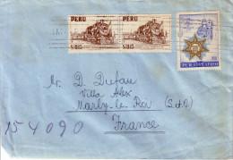 PEROU - LETTRE DE LIMA POUR LA FRANCE EN 1959 . - Peru