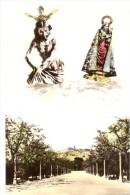 POSTAL   STMO.CRISTO DE LA COLUMNA - PATRON DE JUMILLA - Y LA ABUELICA STA. ANA - Santos